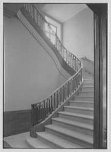 Staircase at National Fire Group, Hartford, Dec. 10, 1941, courtesy Library of Congress archives via Gottscho-Schleisner, Inc.,  photographer