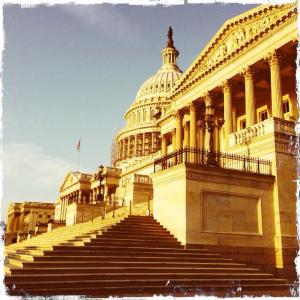 Lovely morning photo of US Capitol before scaffolding, by Jessica Gardner