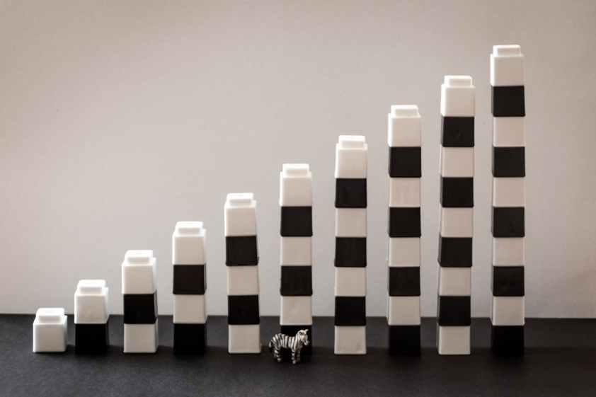 white and black plastic toy decor